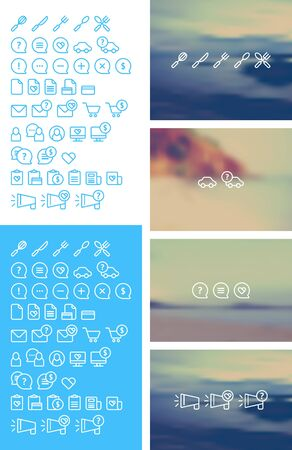 cleanse: Cleanse Icons Set on blurred background Illustration