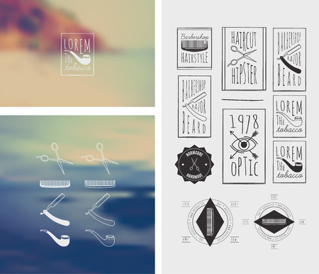 Trendy Retro Vintage Insignias Bundle   Retro hand drawn elements for calligraphic designs   hipster style   Vintage ornaments   old labels   vector set Vector