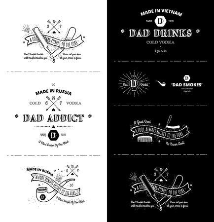 bundle: vector set - Trendy Retro Vintage Insignias - Badges