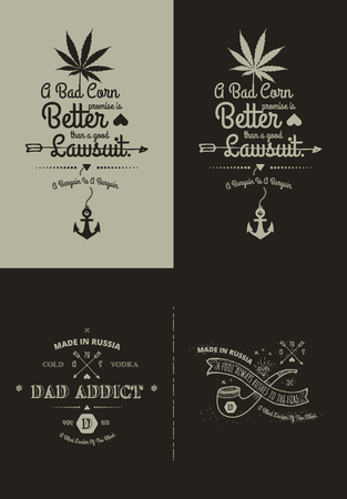scalable: Trendy Retro Vintage Insignias - tattoo Badges - dot work