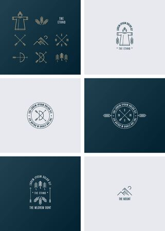 ethno: Trendy Retro Vintage Insignias. The ethno style.