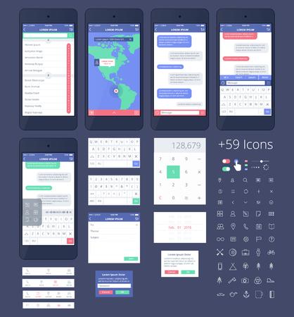 scrollbar: Phone GUI Template.
