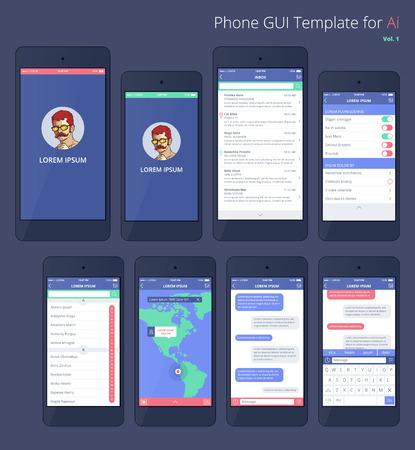 scrollbar: Phone GUI Template