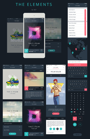 design template: Phone GUI Template