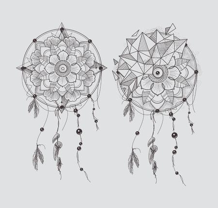 Ronde van het Ornament Mandala's Tattoo