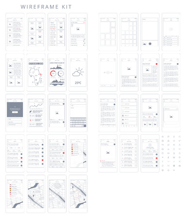 subtitle: Wireframe Kit. Templates and UI elements for web, tablet and mobile devices to help speed up your UX workflow. Delivered in .AI and .EPS vector format.