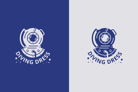 Vector icon with diving suit illustration.
