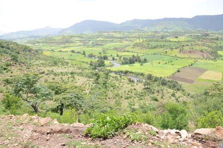 sedentary: Ethiopian Mountains Stock Photo
