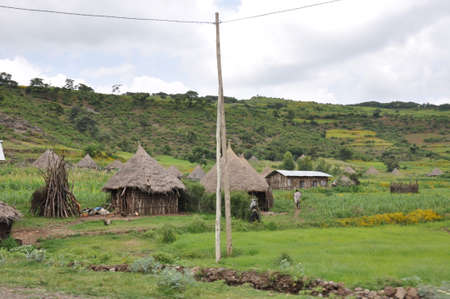 A traditional mountain village in Gondar, Ethiopia.
