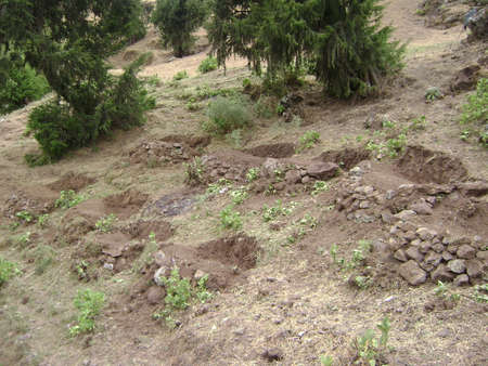 Soil Depletion in the highlands of Ethiopia Stock Photo