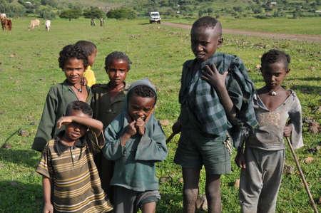 ethiopian: Ethiopian kids in the field Editorial
