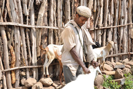 A farmer and his goats Editorial