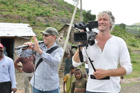 Camera crew in the field