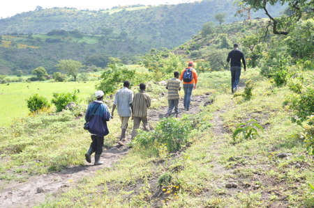 Men walking in the rehabilitated Ethiopian highlands Editorial