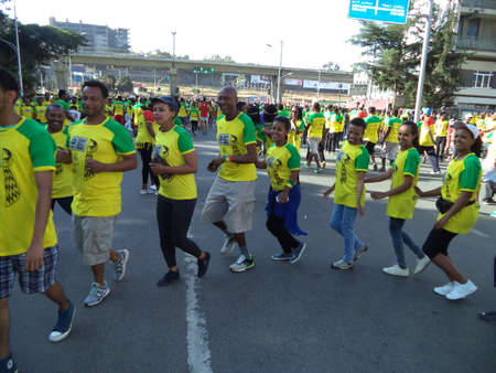 Competitors at the 2016 Great Ethiopian Run. Editorial