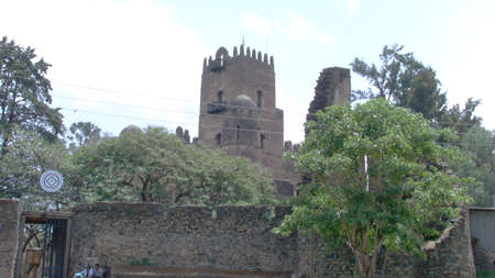 The fortress-city of Fasil Ghebbi : it was the residence of the Ethiopian emperor Fasilides and his successors. Stock Photo