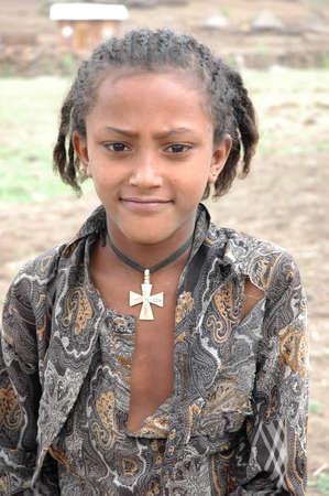 Young Ethiopian gilrl Editorial