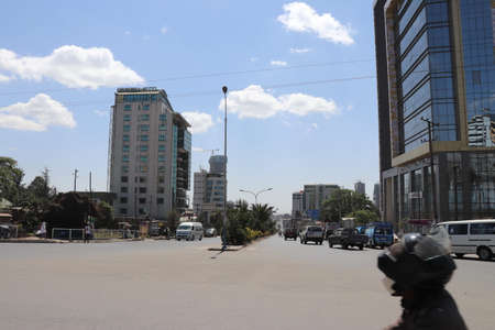 Addis Ababa, streets and buildings Editorial