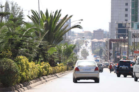 Streets and buildings of Addis Ababa, Ethiopia