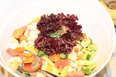 Healthy vegetarian recipe Banco de Imagens