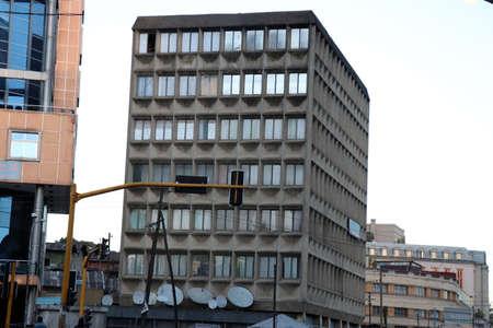 Buildings of Ethiopias capital, Addis Ababa Banco de Imagens