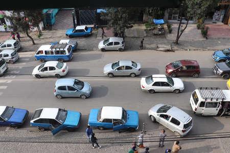 Street scene in Addis Ababa, Ethiopia Editorial
