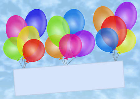 suspend: Balloons. Your text.