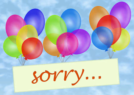 conciliation: Balloons. Sorry