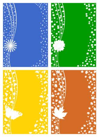 Four seasons - winter, spring, summer, autumn. photo