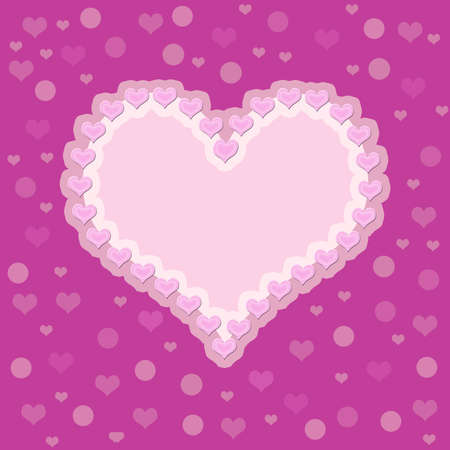 Pink background with a heart. photo