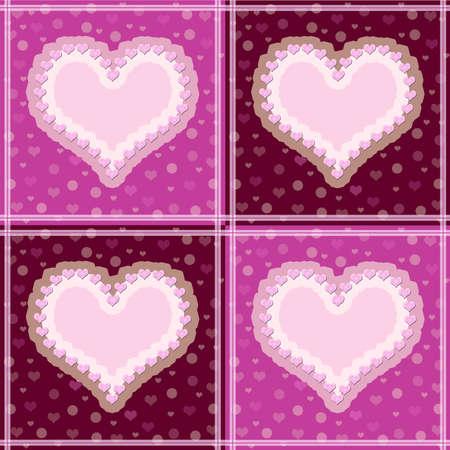 declaracion de amor: El fondo de cuatro de los corazones Foto de archivo