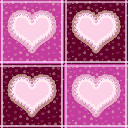love declaration: The background from four of hearts Stock Photo