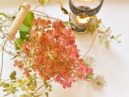 decoration: Hydrangea decoration Stock Photo