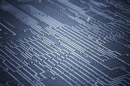 microcircuit: Macro shoot of blank microcircuit board. Technology background Stock Photo