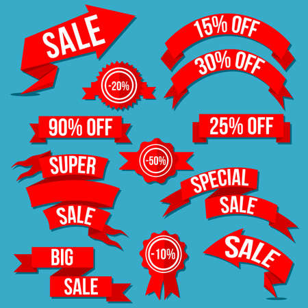 discount banner: Special Discount Sale Banner, batches And Arrows Vector Set