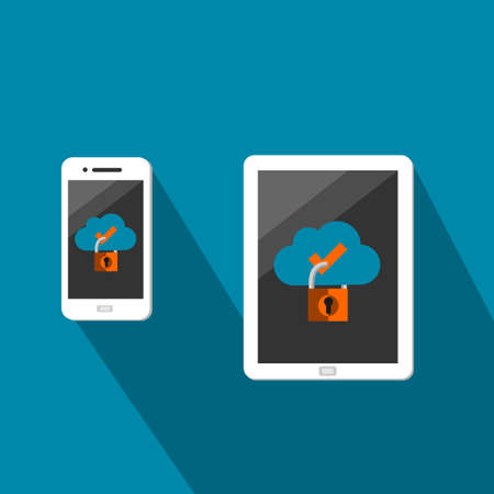 Smartphone And Tablet With Secured Cloud Data Sharing