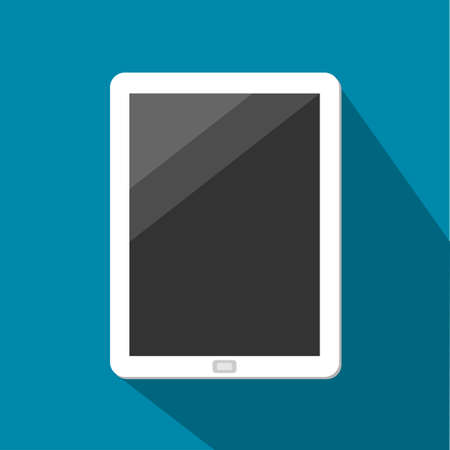 humane: White Tablet With Dark touchscreen Vector