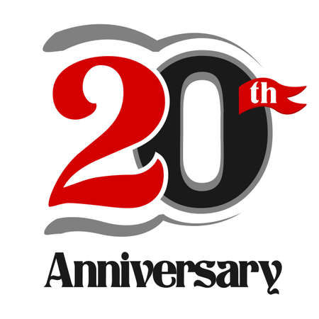 20th: 20th Anniversary Celebration Vector Logo Design