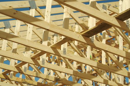 subdivisions: New residential construction home framing.