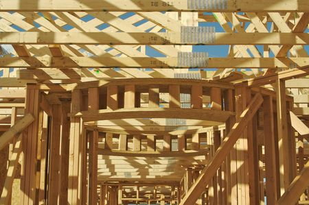 joists: New residential construction home framing.