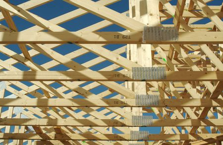 New residential construction home framing. Stock Photo - 1385236