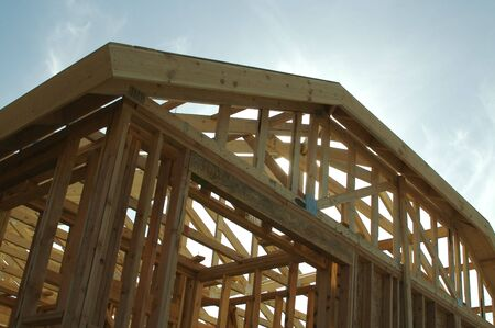 New residential construction home framing. Stock Photo - 1391164