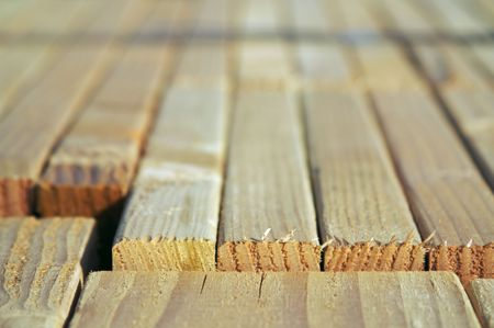 joists: Stack of construction wood in a new residential community.