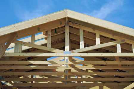 realty residence: New residential construction home framing.