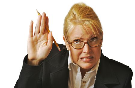 Female Student Reluctant to Raise Her Hand to ask a question. Stock Photo