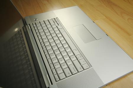 Dramatic angled image of laptop computer. Stock Photo - 1489341