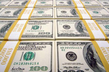 Stacks of One Hundred Dollar Bills. Stock Photo - 1639057