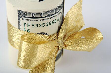 hundreds: Gold Ribbon Wrapped Hundreds