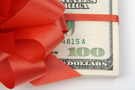 hundreds: Red Ribbon Wrapped Hundreds