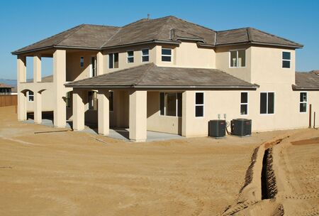 residential construction: Beautiful new home construction.